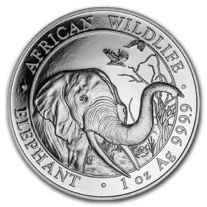1 oz Silver Somalian Elephant Coin 2018