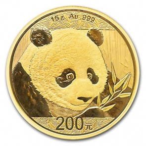 15 gram Gold Chinese Panda Coin 2018