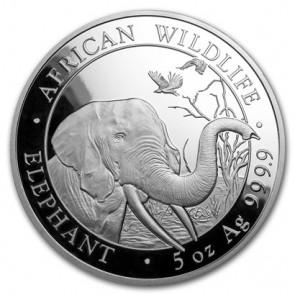 5 oz Silver Somalian Elephant Coin 2018