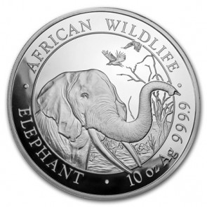 10 oz Silver Somalian Elephant Coin 2018