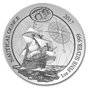 1 oz Silver Rwanda Nautical Ounce Santa Maria Coin 2017