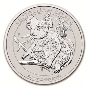 1 Kilo Silver Perth Mint Koala Coin 2018