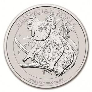 1 Kilo Silver Perth Mint Koala Coin 2018
