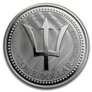 1 oz Silver Barbados Trident Coin 2017