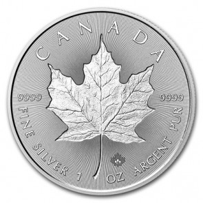 1 oz Silver Canadian Maple Leaf Incuse Coin 2018