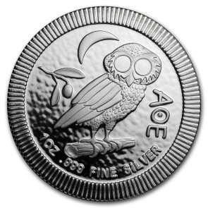 1 oz Silver Athenian Owl Stackable Coin 2018