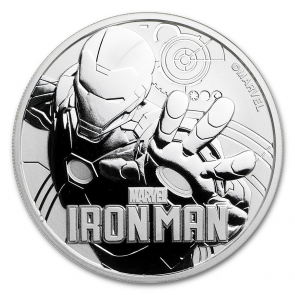 1 oz Silver Marvel Series Iron Man Coin 2018