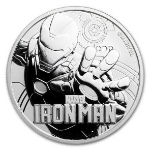 1 oz Silver Marvel Series Iron Man Coin 2018