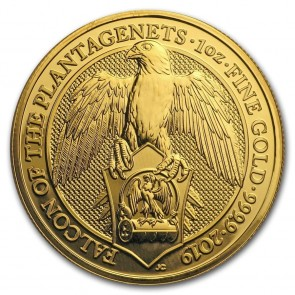 1 oz Gold Queen's Beast Falcon of the Plantagenets Coin 2019
