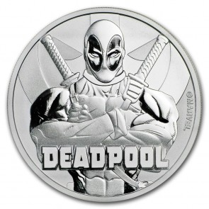 1 oz Silver Marvel Series Deadpool Coin  2018