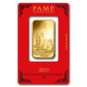 1 oz Gold PAMP Suisse Pig Bar