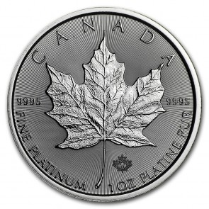 1 oz Platinum RCM Canadian Maple Leaf Coin 2020