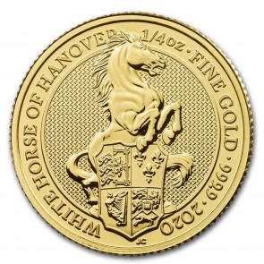 1/4 oz Gold Queen's Beast The White Horse Hanover Coin 2020
