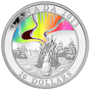 1 oz Silver A story of Northern Lights Hologram - The Great Hare coin 2013