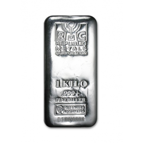 1 kilo Silver Republic Metals Bar