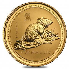 1 oz Gold Perth Mint Year of the Mouse Coin 1996