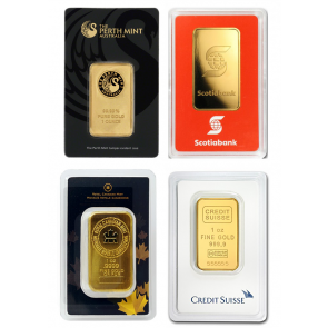 1 oz Various Gold Bar - SPECIAL
