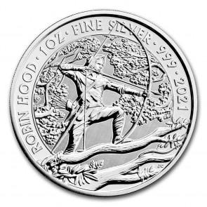 1 oz Silver Myths and Legends: Robin Hood Coin 2021
