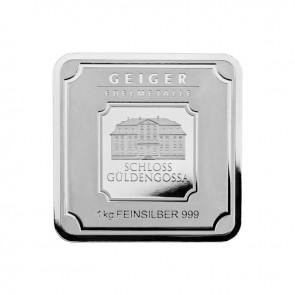 1 Kilo Silver Geiger Square Bar