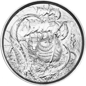2 oz Silver The Kraken Ultra High Relief Round