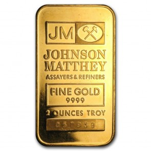 2 oz Gold Johnson Matthey Bar