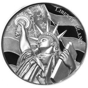 2 oz Silver Elemetal Liberty Island Ultra High Relief Round