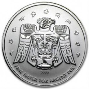 1 oz Silver Olympic Thunderbird Totem Coin 2009