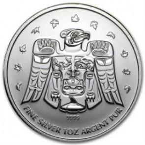 1 oz Silver Olympic Thunderbird Totem Coin 2009