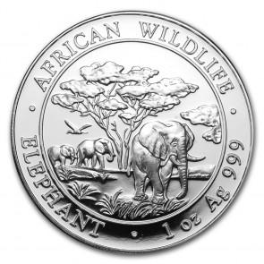 1 oz Silver Somalian Elephant Coin 2012