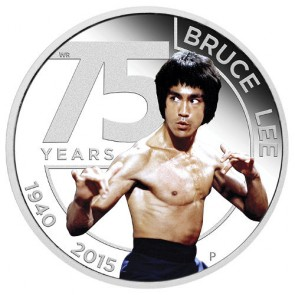 1 oz Silver Bruce Lee Proof Coin 2015