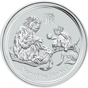 1/2 oz Silver Perth Mint Year of the Monkey Coin 2016