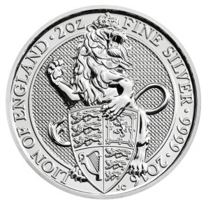 2 oz Silver The Queen's Beast - The Lion Coin 2016