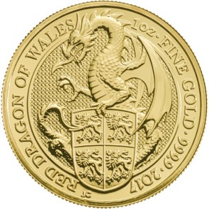1 oz Gold Queen's Beast - The Dragon Coin 2017