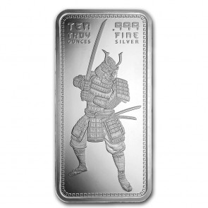 10 oz Silver Samurai Warrior Bar