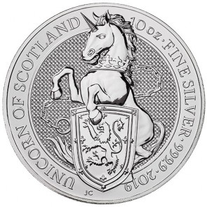 10 oz Silver Queen's Beasts - Unicorn Coin 2019