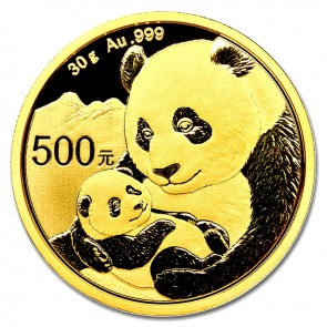 30 gram Gold Chinese Panda Coin Pre-Year
