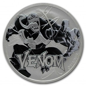1 oz Silver Tuvalu Marvel Series Venom Coin 2020