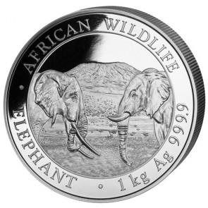 1 kilo Silver Somalian Elephant Coin 2020