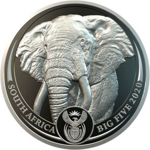 1 oz Platinum South African Big Five Elephant 2020