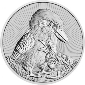 2 oz Silver Perth Mint Piedfort Kookaburra Mother and Baby Coin 2020