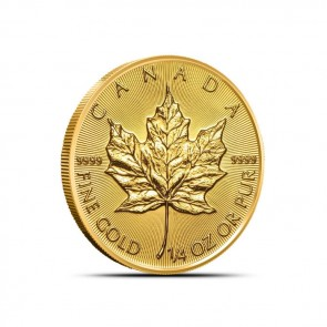1/4 oz Gold Canadian Maple Leaf Coin Current Year