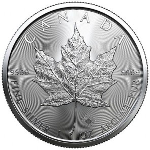 1 oz Silver Canadian Maple Leaf Coin 2021