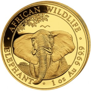 1 oz Gold Somalian Elephant Coin 2021