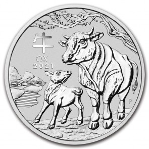 2 oz Silver Perth Mint Lunar Ox (Series III) Coin 2021