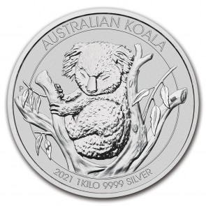 1 Kilo Silver Perth Mint Koala Coin 2021