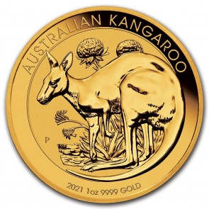 1 oz Gold Perth Kangaroo Coin 2021