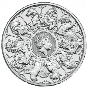 2 oz Silver Queen's Beasts - Completer Coin 2021
