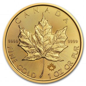 1 oz Gold Canadian Maple Leaf Coin 2021