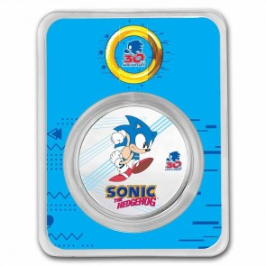1 oz Silver Sonic the Hedgehog Colorized Coin 2021