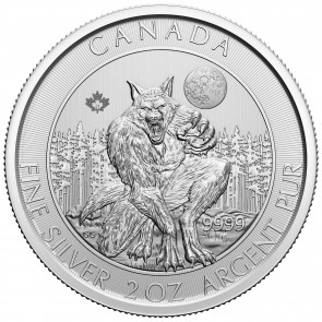 2 oz Silver RCM Creatures of the North - Werewolf Coin 2021